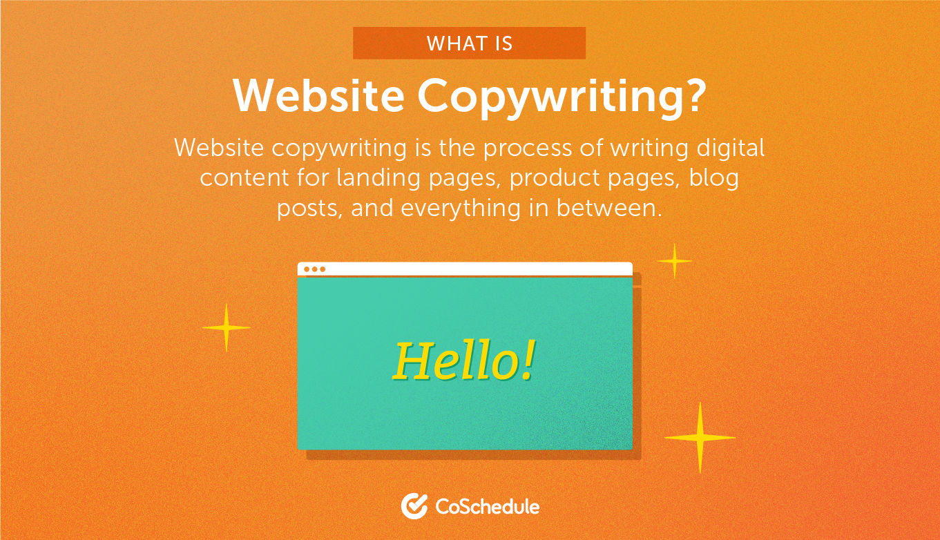 Website copy writing services